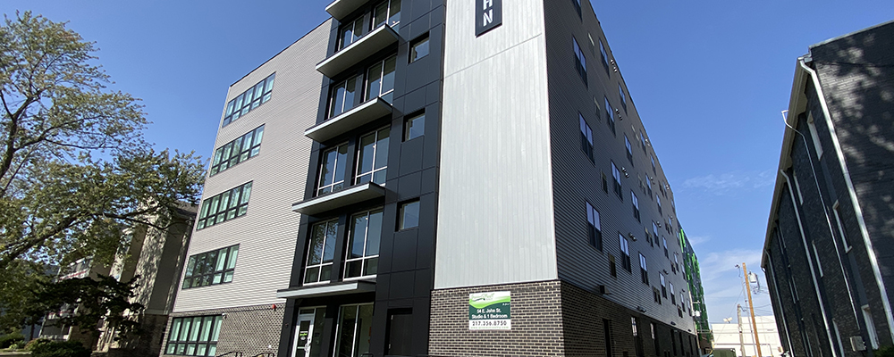 John Street Apartments built by Homeway Commercial in Champaign, IL