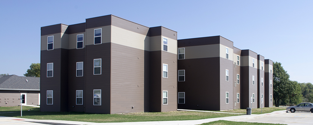 The Villas at Spoon River built by Homeway Commercial in Canton, IL